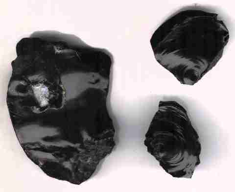 [ glassy igneous rock, Caveman Chemistry]